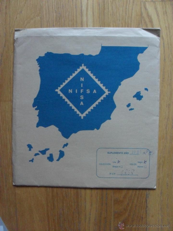 HOJAS DE SUPLEMENTO AÑO 1981 NIFSA, MONTADAS EN ESTUCHES NEGROS VER FOTOS (Sellos - Material Filatélico - Hojas)