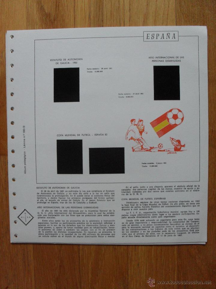Sellos: HOJAS DE SUPLEMENTO AÑO 1981 Nifsa, Montadas en estuches negros VER FOTOS - Foto 5 - 40013999