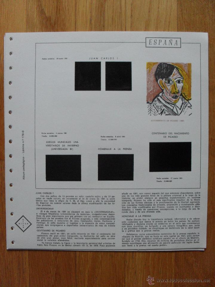 Sellos: HOJAS DE SUPLEMENTO AÑO 1981 Nifsa, Montadas en estuches negros VER FOTOS - Foto 8 - 40013999