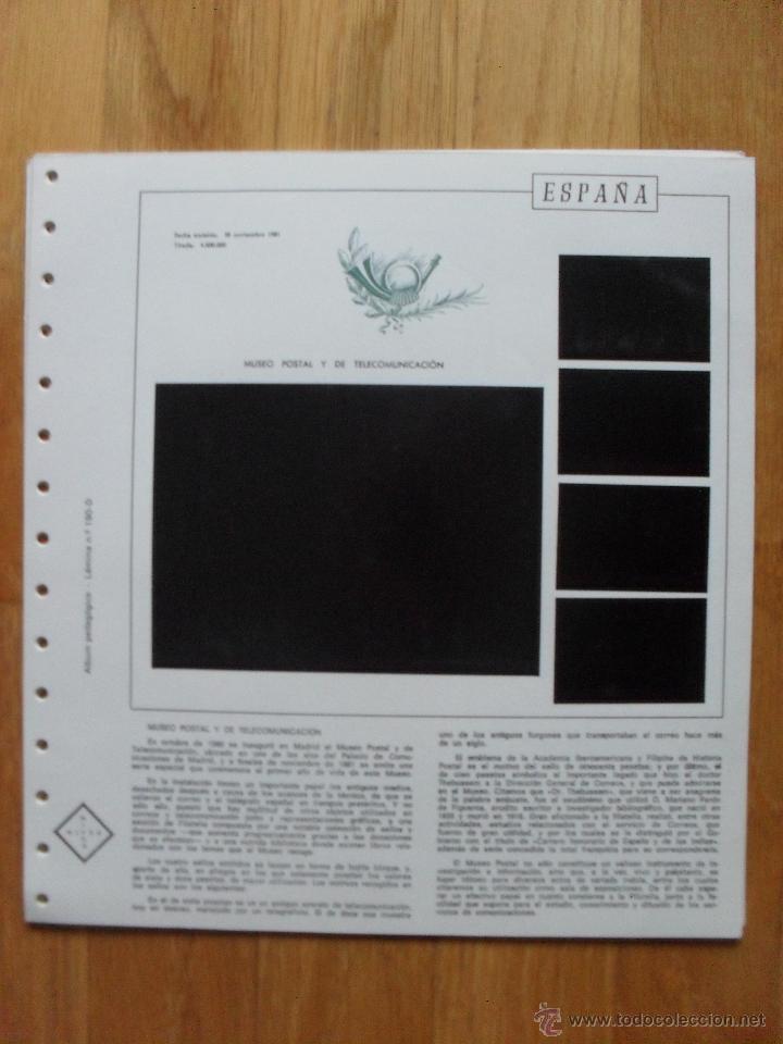 Sellos: HOJAS DE SUPLEMENTO AÑO 1981 Nifsa, Montadas en estuches negros VER FOTOS - Foto 9 - 40013999