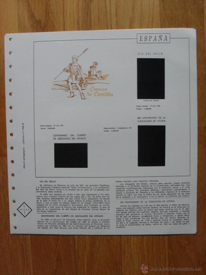 Sellos: HOJAS DE SUPLEMENTO AÑO 1981 Nifsa, Montadas en estuches negros VER FOTOS - Foto 11 - 40013999
