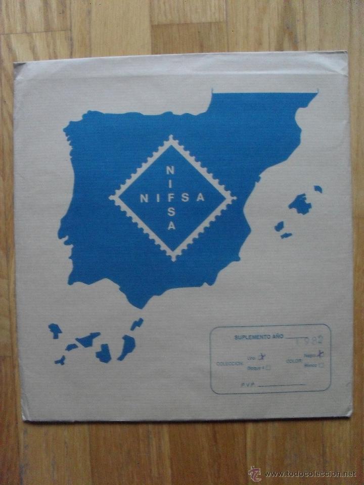 HOJAS DE SUPLEMENTO AÑO 1982 NIFSA, MONTADAS EN ESTUCHES NEGROS VER FOTOS (Sellos - Material Filatélico - Hojas)
