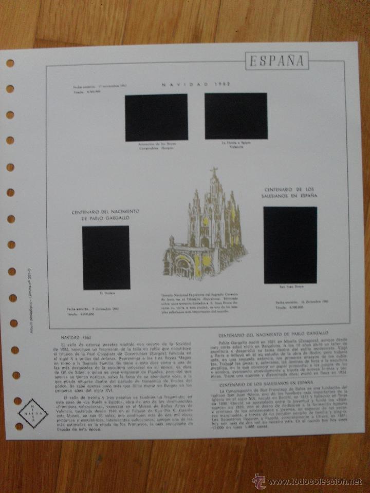 Sellos: HOJAS DE SUPLEMENTO AÑO 1982 NIFSA, MONTADAS EN ESTUCHES NEGROS VER FOTOS - Foto 2 - 40025273