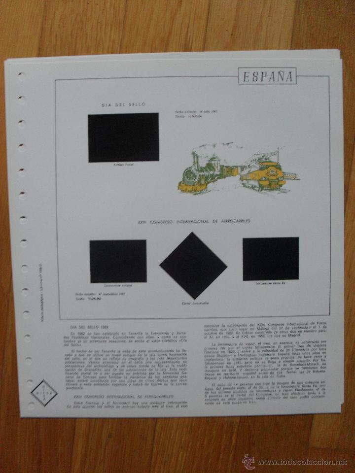 Sellos: HOJAS DE SUPLEMENTO AÑO 1982 NIFSA, MONTADAS EN ESTUCHES NEGROS VER FOTOS - Foto 3 - 40025273