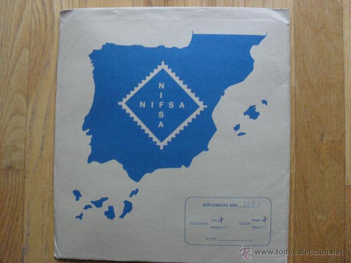 HOJAS DE SUPLEMENTO AÑO 1983 NIFSA, MONTADAS EN ESTUCHES NEGROS VER FOTOS (Sellos - Material Filatélico - Hojas)