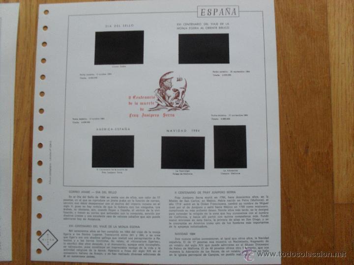 Sellos: HOJAS DE SUPLEMENTO 1984 NIFSA,Montadas en estuches negros, VER FOTOS - Foto 3 - 40026308