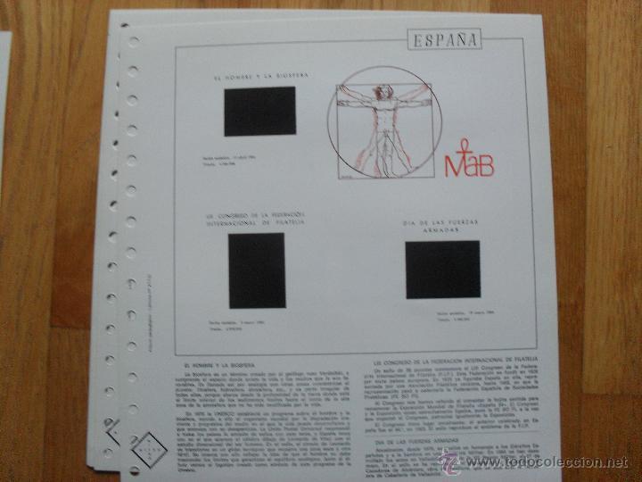 Sellos: HOJAS DE SUPLEMENTO 1984 NIFSA,Montadas en estuches negros, VER FOTOS - Foto 8 - 40026308