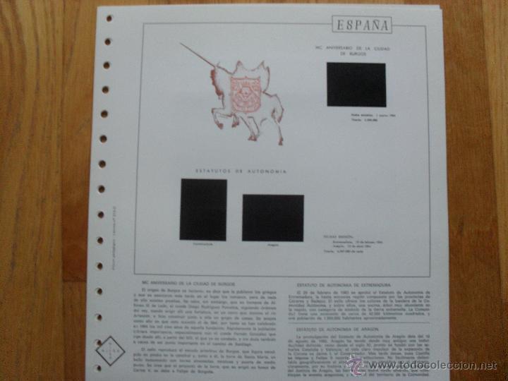 Sellos: HOJAS DE SUPLEMENTO 1984 NIFSA,Montadas en estuches negros, VER FOTOS - Foto 10 - 40026308
