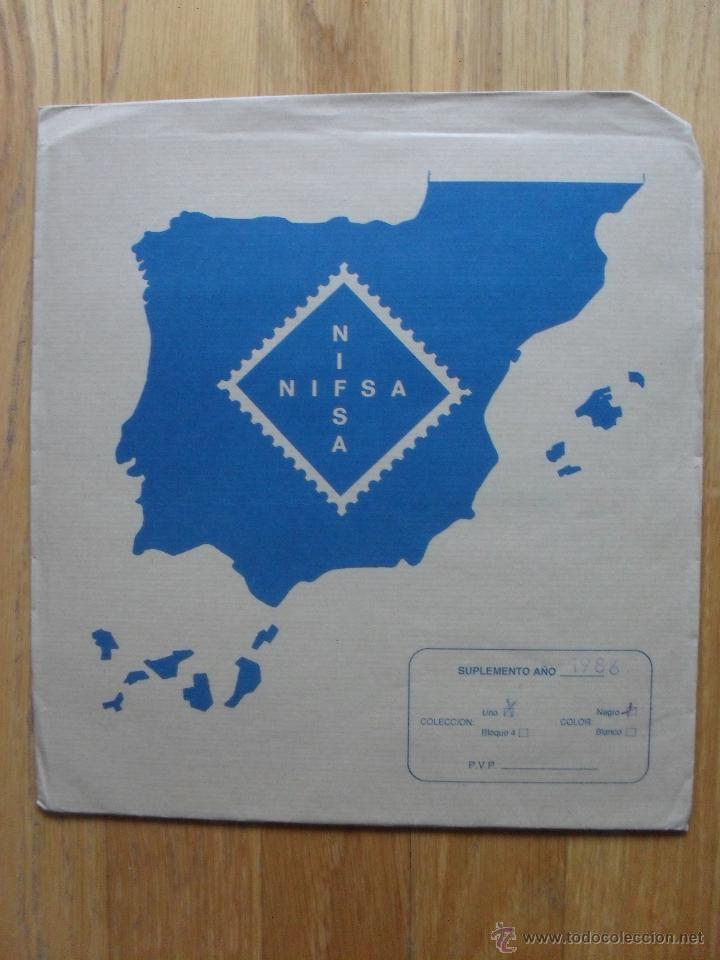 HOJAS DE SUPLEMENTO AÑO 1986 NIFSA, MONTADAS EN ESTUCHES NEGROS VER FOTOS (Sellos - Material Filatélico - Hojas)