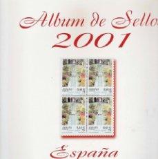 Sellos: HOJAS ALBUM SELLOS - FILABO - ESPAÑA BLOQUE DE 4 - CON FILOESTUCHES - AÑO 2001 + OPORTUNIDAD + JG. Lote 41233070