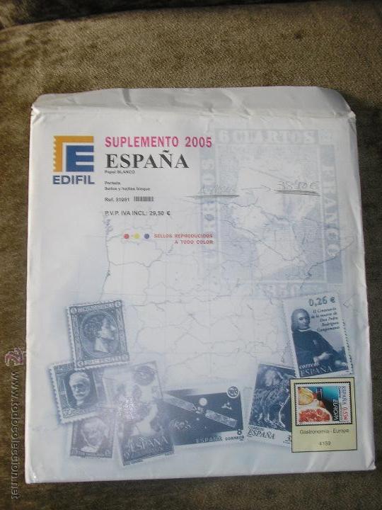 SUPLEMENTO EDIFIL 2007 MONTADO CON FILOESTUCHES NEGROS (Sellos - Material Filatélico - Hojas)