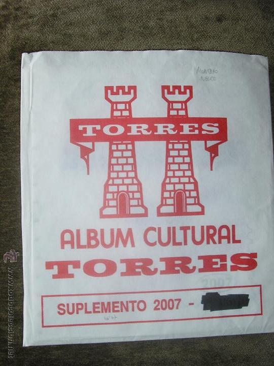 SUPLEMENTO TORRES 2007 COMPLETO MONTADO CON FILOESTUCHES NEGROS (Sellos - Material Filatélico - Hojas)