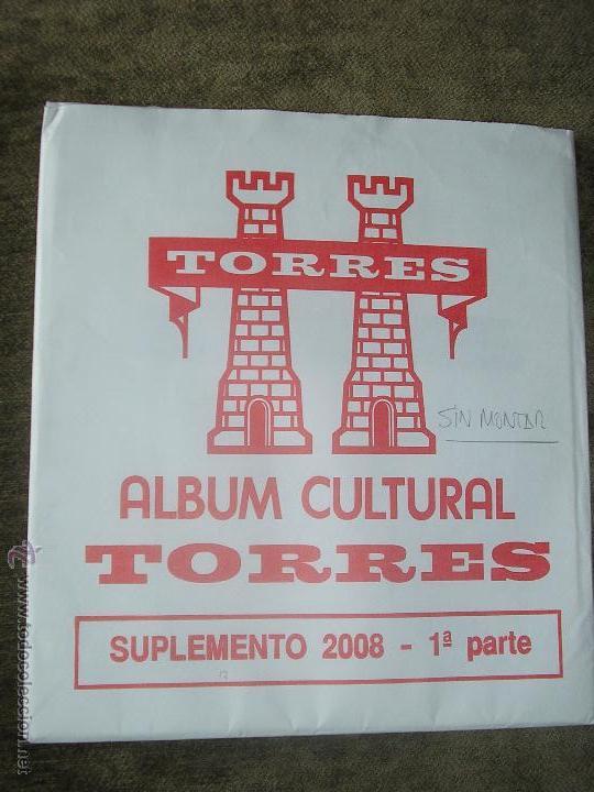 SUPLEMENTO TORRES 2008 1ª PARTE SIN MONTAR FILOESTUCHES (Sellos - Material Filatélico - Hojas)