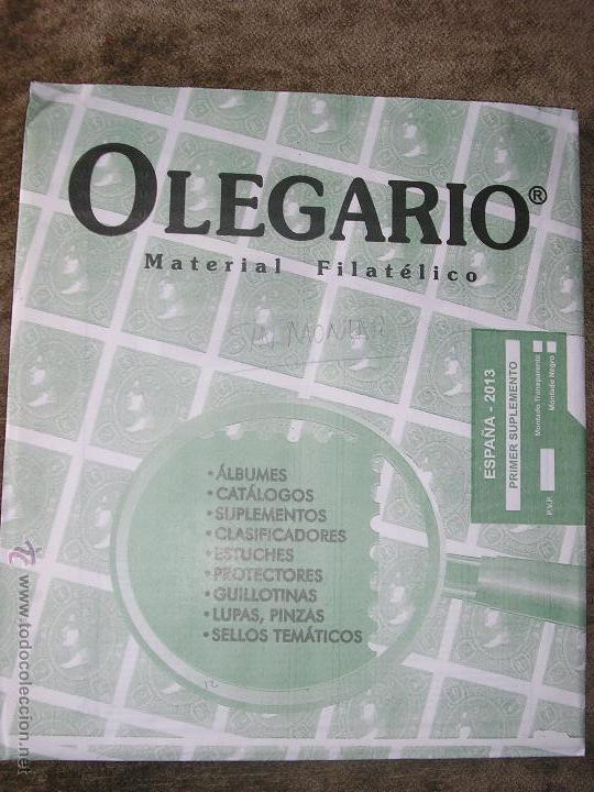 SUPLEMENTO OLEGARIO 2013 PRIMER SUPLEMENTO SIN MONTAR FILOESTUCHES (Sellos - Material Filatélico - Hojas)