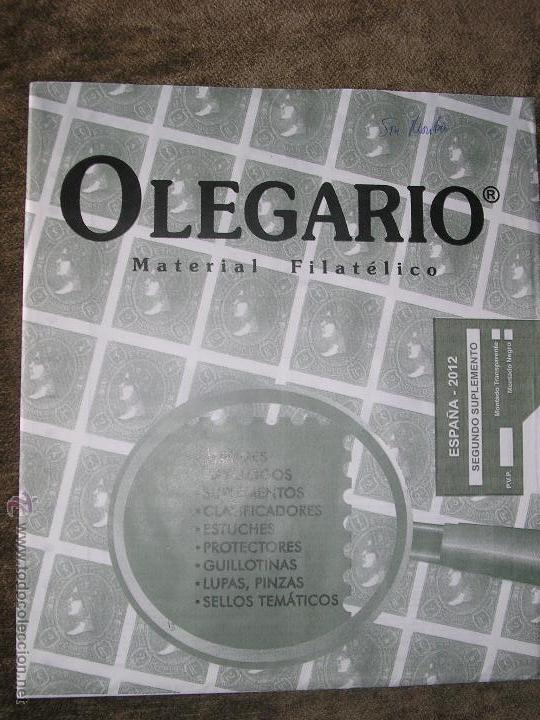 SUPLEMENTO OLEGARIO 2012 2º SUPLEMENTO SIN MONTAR FILOESTUCHES (Sellos - Material Filatélico - Hojas)