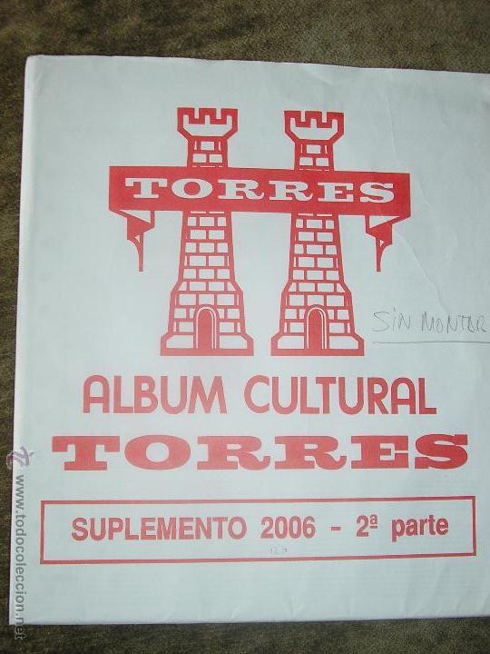 SUPLEMENTO TORRES 2006 2ª PARTE SIN MONTAR FILOESTUCHES (Sellos - Material Filatélico - Hojas)