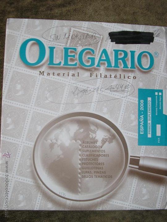 SUPLEMENTO OLEGARIO 2008 1ª PARTE SIN MONTAR FILOESTUCHES (Sellos - Material Filatélico - Hojas)