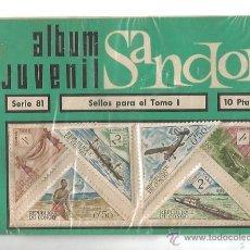 Sellos: ALBUM JUVENIL SANDOR SELLO REPUBLICA DE CONGO 1967 SERIE 81 BARCO AVION COCHE TRANSPORTE. Lote 53015018
