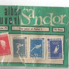 Sellos: ALBUM JUVENIL SANDOR SELLO R. P. ROMINA MELBOURNE ROMA 1960 OLIMPICO ANTORCHA NATACION WATERPOLO. Lote 53015095