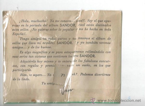 Sellos: ALBUM JUVENIL SANDOR SELLO R. P. ROMINA OLIMPIADA MELBOURNE ROMA 1960 XVI BOXEO TIRO ESCOPETA - Foto 2 - 53015131