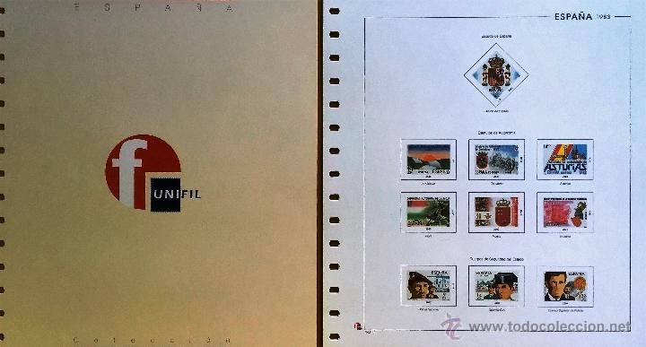 HOJAS ESPAÑA - UNIFIL NUEVOS-AÑOS 1983 CON FILOESCHUCHES TRANSPARENTES (Sellos - Material Filatélico - Hojas)