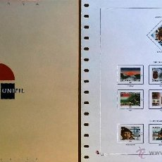 Sellos: HOJAS ESPAÑA - UNIFIL NUEVOS-AÑOS 1983 CON FILOESCHUCHES TRANSPARENTES. Lote 60879189