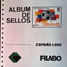 Sellos: HOJAS ESPAÑA - FILABO SEMI-NUEVOS AÑOS 1980 CON FILOESCHUCHES EN NEGRO. Lote 56018365
