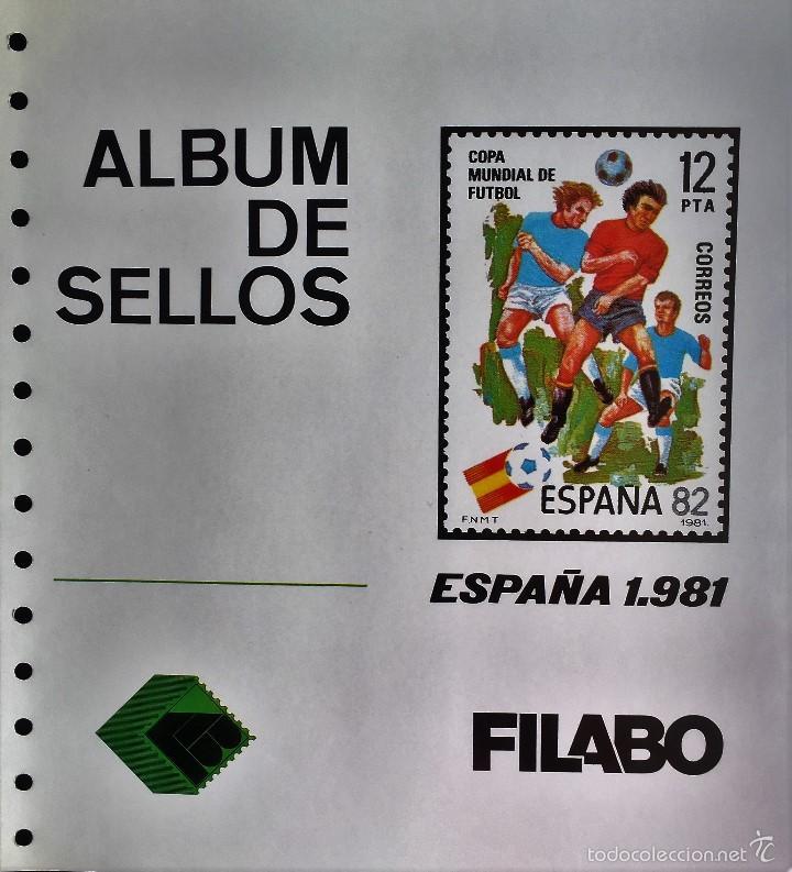 HOJAS ESPAÑA SEMI-NUEVAS, AÑOS 1981 MONTADAS CON FILOESTUCHES EN NEGRO, EN MUY BUEN ESTADO DE CONSER (Sellos - Material Filatélico - Hojas)