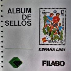 Sellos: HOJAS ESPAÑA SEMI-NUEVAS, AÑOS 1981 MONTADAS CON FILOESTUCHES EN NEGRO, EN MUY BUEN ESTADO DE CONSER. Lote 56018413