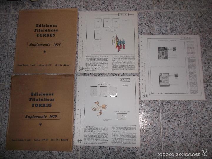 SUPLEMENTO TORRES HOJAS AÑO 1978-79-84-90 ESPAÑA. (Sellos - Material Filatélico - Hojas)