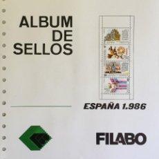 Sellos: HOJAS ESPAÑA - FILABO SEMI-NUEVAS AÑOS 1986 CON FILOESCHUCHES EN NEGRO . Lote 56530146