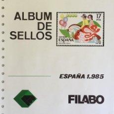 Sellos: HOJAS ESPAÑA - FILABO SEMI-NUEVOS AÑOS 1985 CON FILOESCHUCHES EN NEGRO. Lote 56530185