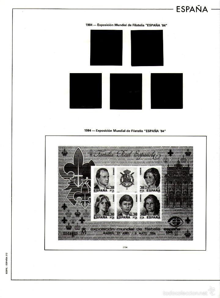 AÑO 1984 HOJAS MONTADAS Y SIN MONTAR (7) EDIFIL-270-271-272-273-273A-274-275 (Sellos - Material Filatélico - Hojas)