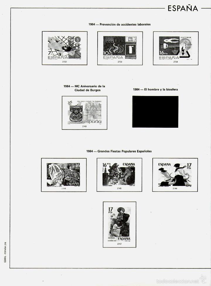 Sellos: AÑO 1984 HOJAS MONTADAS Y SIN MONTAR (7) EDIFIL-270-271-272-273-273A-274-275 - Foto 2 - 57219281