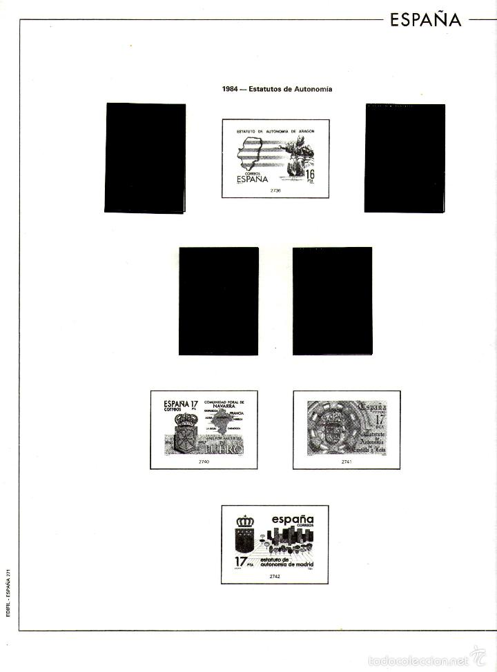 Sellos: AÑO 1984 HOJAS MONTADAS Y SIN MONTAR (7) EDIFIL-270-271-272-273-273A-274-275 - Foto 3 - 57219281