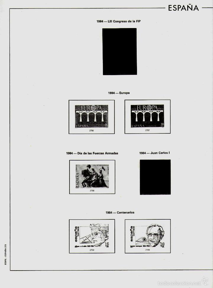 Sellos: AÑO 1984 HOJAS MONTADAS Y SIN MONTAR (7) EDIFIL-270-271-272-273-273A-274-275 - Foto 5 - 57219281