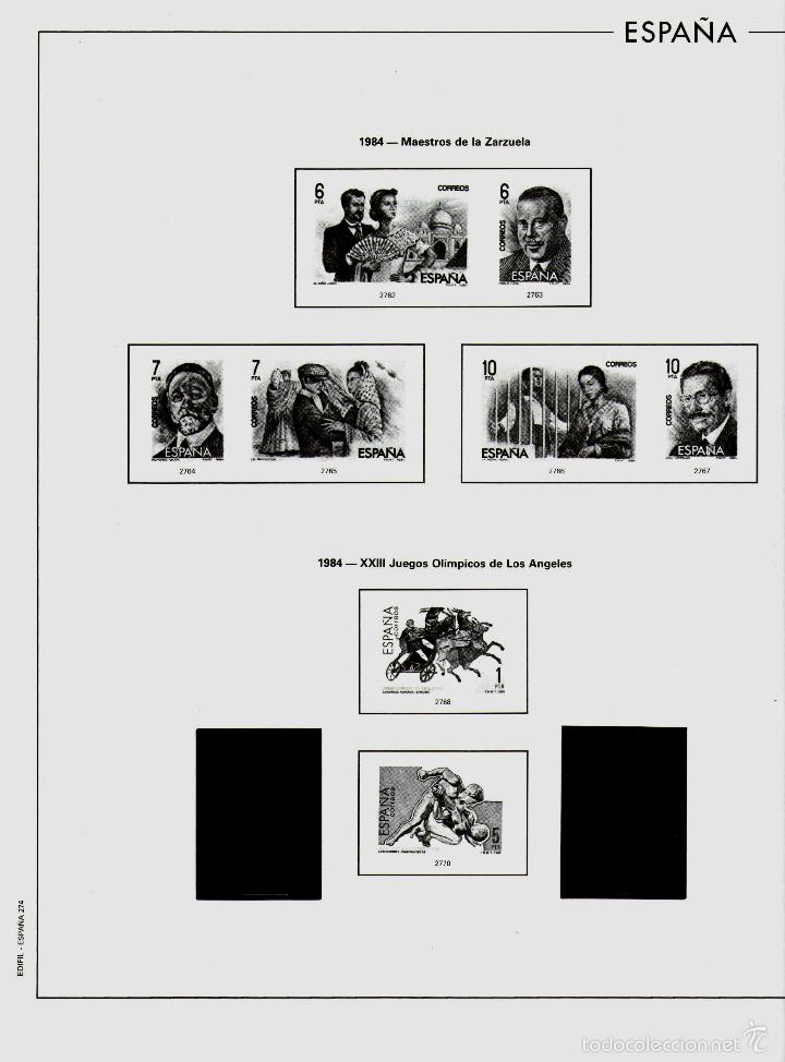 Sellos: AÑO 1984 HOJAS MONTADAS Y SIN MONTAR (7) EDIFIL-270-271-272-273-273A-274-275 - Foto 6 - 57219281