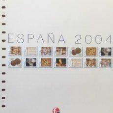 Sellos: HOJAS UNIFIL DE ESPAÑA NUEVO AÑO 2004 CON FILOESCHUCHES EN NEGRO. Lote 66231762
