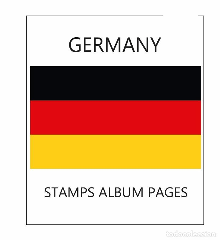 image regarding Printable Stamps known as STAMPS ALBUM Internet pages BERLIN 1948-1990 - ILUSTRATED PDF PRINTABLE History