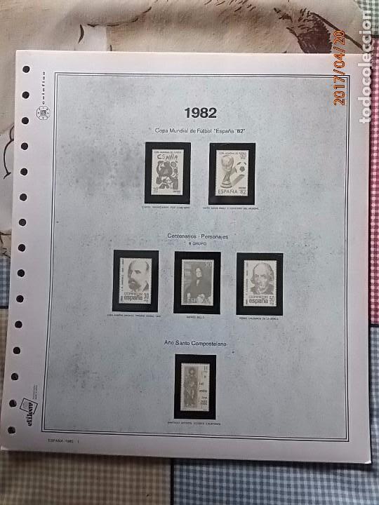 ESPAÑA 1982 - HOJAS CON FILOESTUCHES - MARCA EFILCAR - AÑO COMPLETO - 9 HOJAS - 15 AGUJEROS. (Sellos - Material Filatélico - Hojas)