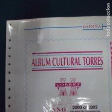 Sellos: HOJAS TORRES AÑOS 2000 AL 2002 CON ESTUCHES TRANSPARENTES. Lote 96679660