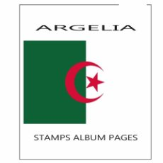 Sellos: ALGERIA ALBUM PAGES FILKASOL - 1984-2001 YEARS (NOT STAMPS) + HAWID PROTECTORS. Lote 98151607