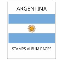 Sellos: ARGENTINA ALBUM PAGES FILKASOL - 2016 YEAR (NOT STAMPS) + HAWID PROTECTORS. Lote 98156135