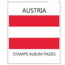 Sellos: AUSTRIA ALBUM PAGES FILKASOL - 1975-1990 YEARS (NOT STAMPS) + HAWID PROTECTORS. Lote 98157387