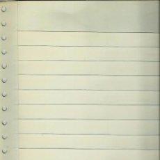 Sellos: (HOJAS) ALBUM DE SELLOS:HOJA CLASIFICADORA DE NOVEDADES DE 12 BANDAS BLANCAS A UNA CARA NUEVA. Lote 104738179