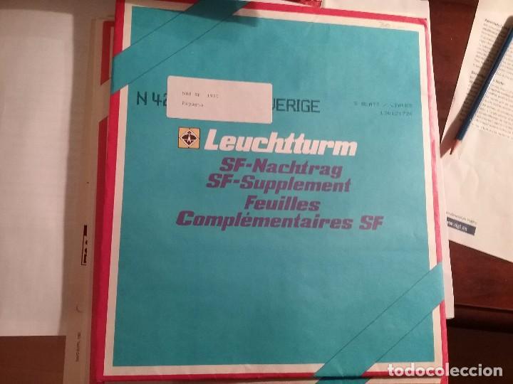 LEUCHTTURM HOJAS AÑO 1990 ESPAÑA (Sellos - Material Filatélico - Hojas)
