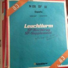 Sellos: LEUCHTTURM SELLOS EN HOJAS AÑO 1983 ESPAÑA . Lote 105048783