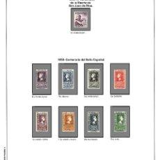 Timbres: SUPLEMENTO DE ESPAÑA MOD(2) 1950 COLOR MONTADO EN BLANCO CON FILOESTUCHES PRINZ NUEVO A ESTRENAR. Lote 108443075