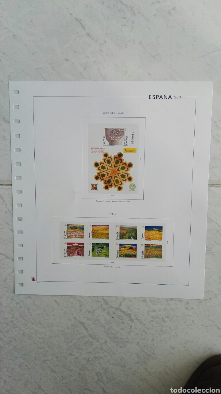 SUPLEMENTO UNIFIL ESPAÑA 2003 PINTURA (Sellos - Material Filatélico - Hojas)