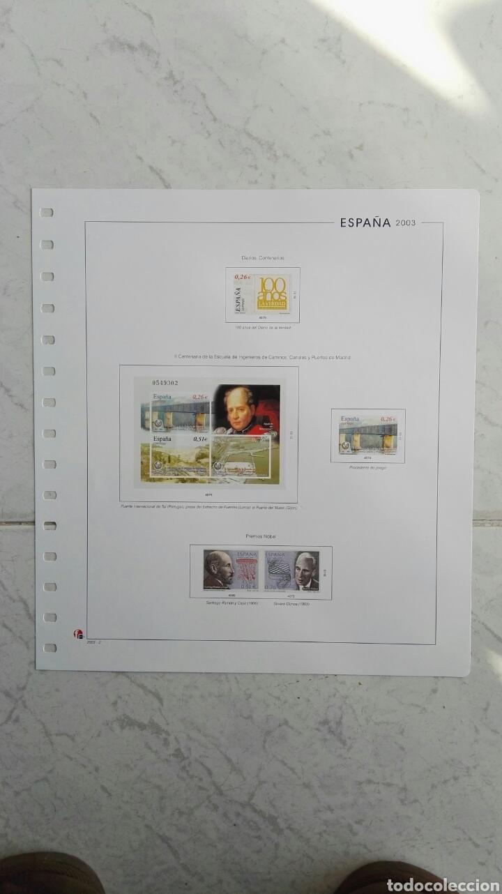 SUPLEMENTO UNIFIL ESPAÑA 2003 PREMIOS NOBEL (Sellos - Material Filatélico - Hojas)